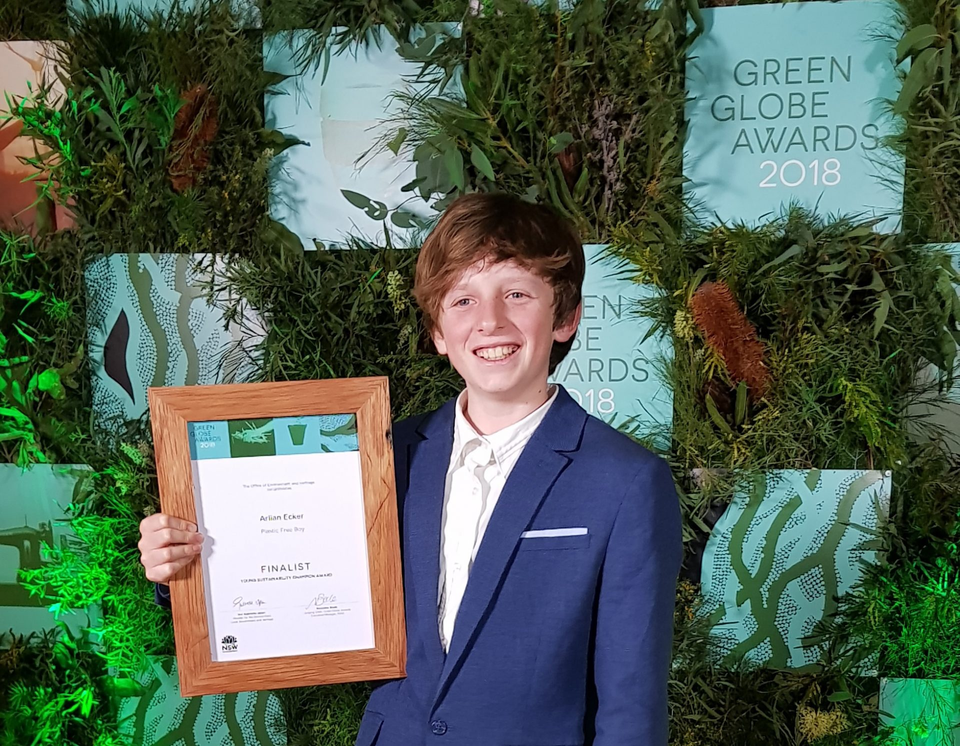 NSW Department of Environment Green Globe Awards Nomination