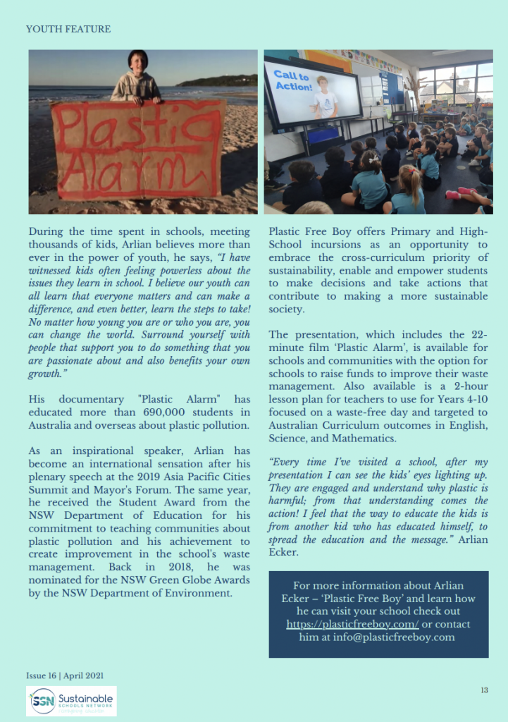 Feature Story at Sustainable School Network